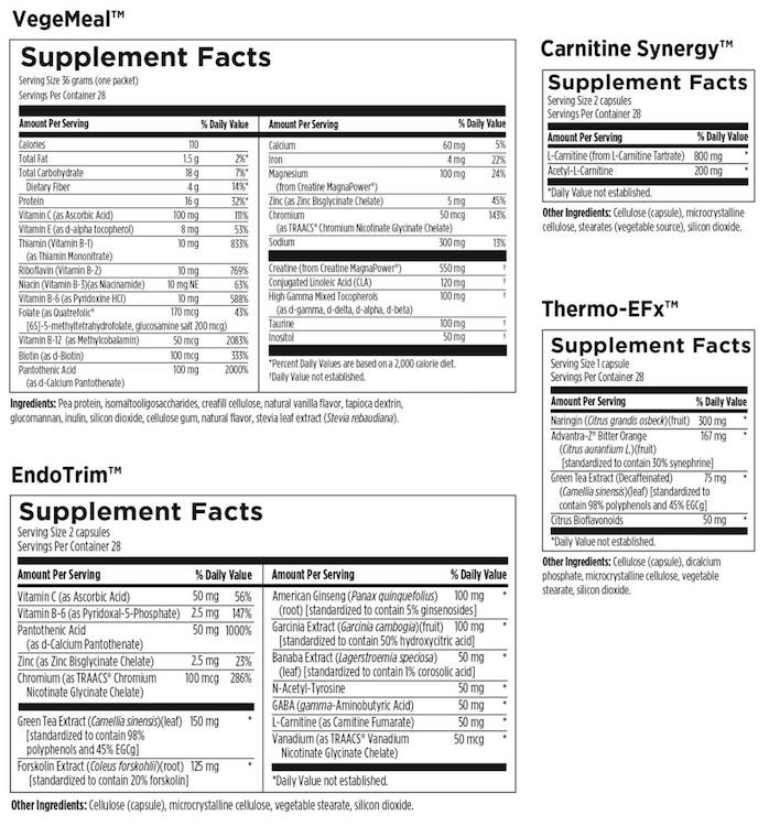 VegeMeal Plus™ Lean Body Program, Natural Vanilla Flavor