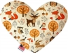 Fox and Friends Heart Dog Toy