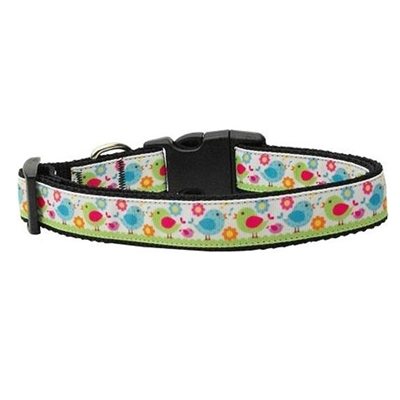 Chirpy Chicks Nylon Ribbon Dog Collar