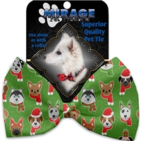 Christmas Dogs Pet Bow Tie