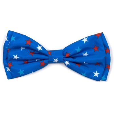 The Worthy Dog Patriotic Stars Bow Tie