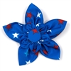 The Worthy Dog Patriotic Stars Collar Flower