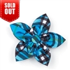 The Worthy Dog Bias Plaid Blue Collar Flower