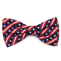 The Worthy Dog Stars and Stripes Bow Tie