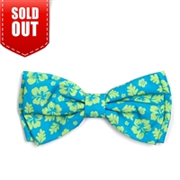The Worthy Dog Aloha Turq Bow Tie