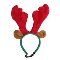Outward Hound Holiday Antlers Dog Headband-Small