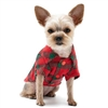DOGO Flannel Button Down Shirt Red and Green