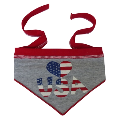 Heart USA Scarf Heather Grey
