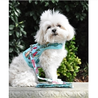 Surfboards and Palms Fabric Dog Harness