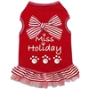 Miss Holiday Tank Dog Dress