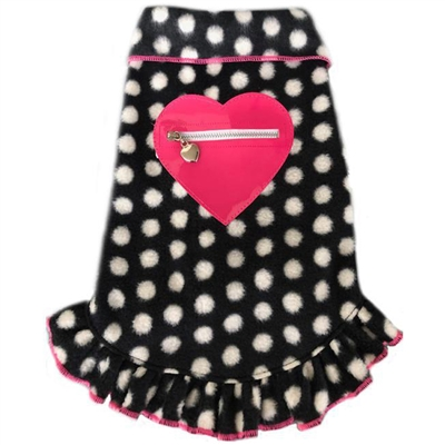Black and White Dots with Pink Heart Pullover