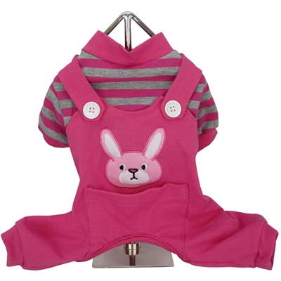 Animal Overalls Dog Pajama-Bunny