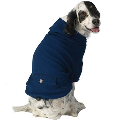 Bentley's Fur Trimmed Dog Hoodie Royal Blue