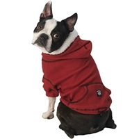 Bentley's Fur Trimmed Dog Hoodie Red