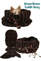 Brown/Brown Reversible Snuggle Bug w/ Brown Ruffle Trim