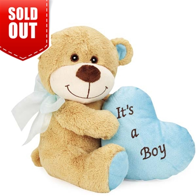 Bundle Of Joy Bear Dog Toy-Blue Boy