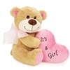 Bundle Of Joy Bear Dog Toy-Pink Girl
