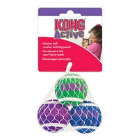 Kong Cat Active Tennis Ball-3pk