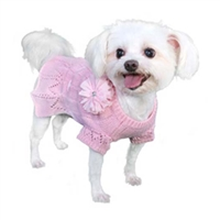 Cassidy Sweater Dog Dress-Pink