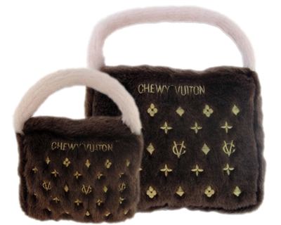 Classic Brown Chewy Vuiton Dog Toy