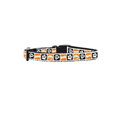 Classic Halloween Nylon Ribbon Cat Collar