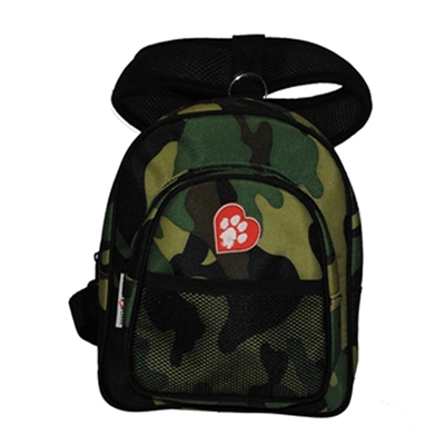 ClassicRuff Backpack for Dogs-Green Camouflage