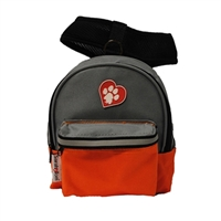 ClassicRuff Backpack for Dogs-Orange and Gray