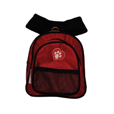 ClassicRuff Backpack for Dogs-Red