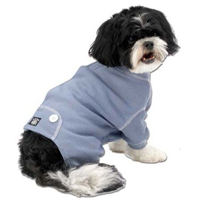 Cozy Thermal Dog Pj's Blue