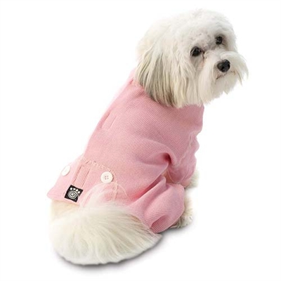Cozy Thermal Dog Pj's Pink