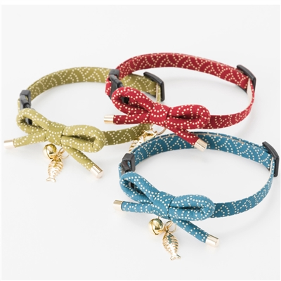 Necoichi Zen Fish Charm Cat Collar