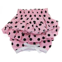 Doggie Design Ruffled Dog Panties-Pink Polka Dot