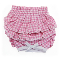 Doggie Design Ruffled Dog Panties-Pink Gingham