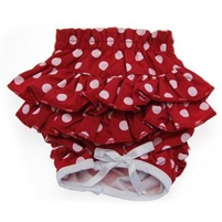 Doggie Design Ruffled Dog Panties-Red Polka Dot