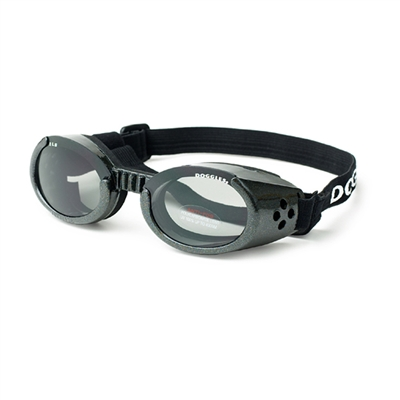 Doggles ILS- Metallic Black Frame/Smoke Lens