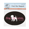Dog Is Love Car Magnet