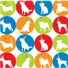 Pet Friendly Gift Wrap-Dog Party Silhouettes