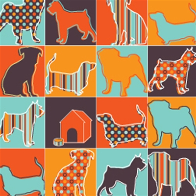 Pet Friendly Gift Wrap-Pattern Silhouettes