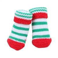 Grinch Dog Socks-Red