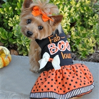 Holiday Dog Harness Dress - Fab-BOO-lous