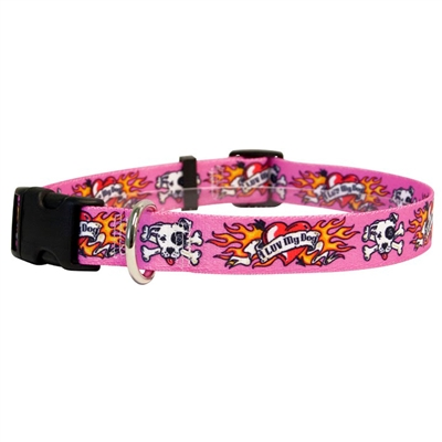 I Luv My Dog Pink Collar