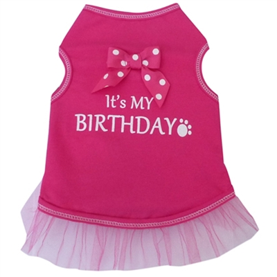 It's My Birthday Ribbon Bow Dog Dress