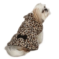 Leopard Fleece Dog Jacket
