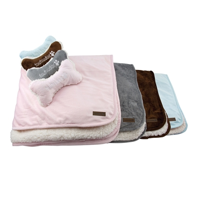 Luxe Sherpa Puppy Blanket Set