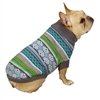 Northern Lights Dog Sweater-Blue