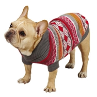 Northern Lights Dog Sweater-Raspberry