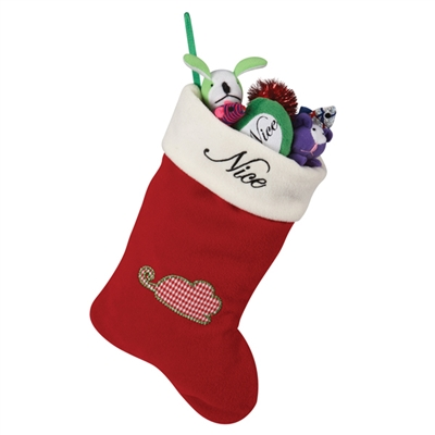 Naughty/Nice Cat Stocking