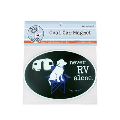 Never RV Alone Car Magnet