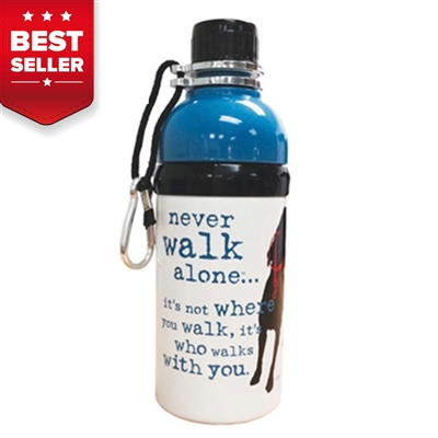 Never Walk Alone Pet Water Bottle with Roller Ball