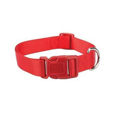 Nylon Dog Collar-Tomato Red